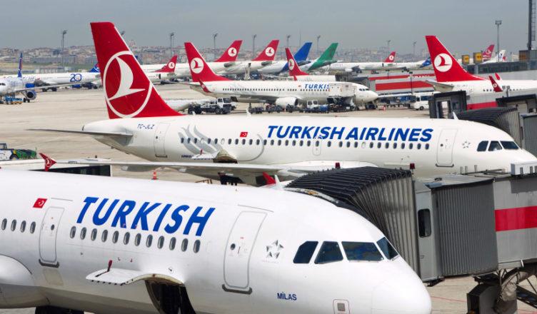 Mandatory Credit: Photo by David Pearson/Rex / Rex USA (1074422a) Turkish Airlines planes at Ataturk international airport in Istanbul Turkey Istanbul, Turkey - Jun 2012